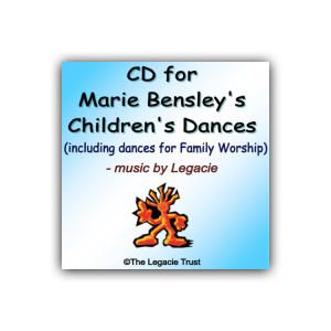 CD for Marie Bensley's Children's Dances - Front