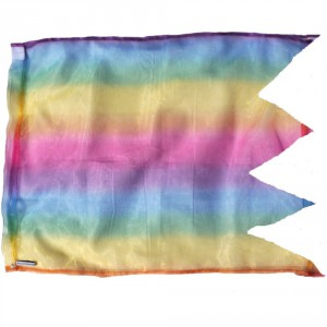 Rainbow organza pennant flags